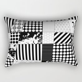 Mosaic Contrast - Black and white, geometric design Rectangular Pillow