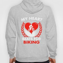 My Heart Beats For Biking Hoody