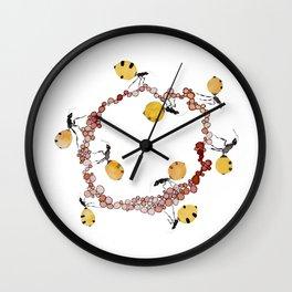 Honey Ant Roundabout Wall Clock