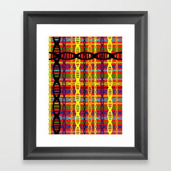 DNA Plaid Framed Art Print