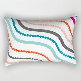 Beads and ribbons Rectangular Pillow