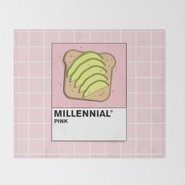 Millenial Pink Throw Blanket