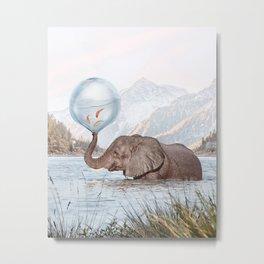 In a Bubble Metal Print