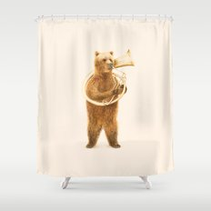 The Bear and his Helicon Shower Curtain