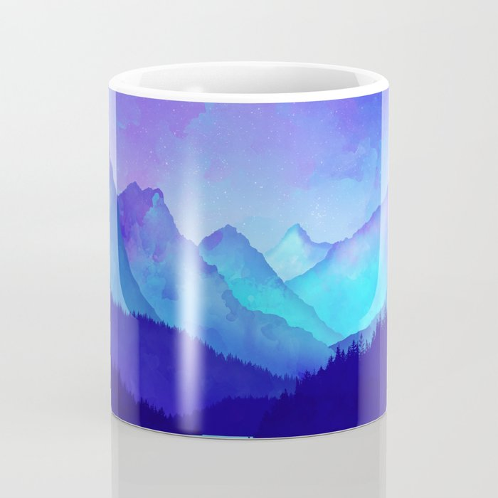 Cerulean Blue Mountains Coffee Mug