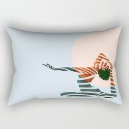 ZEBRA PAINT GIRL Rectangular Pillow