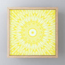 The Sun : Kaleidoscope Mandala Framed Mini Art Print