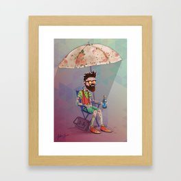 It's too hot to be cool Framed Art Print