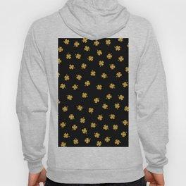 Golden shamrocks Black Background Hoody
