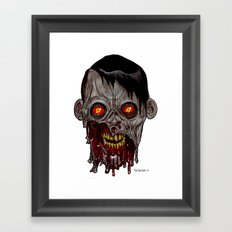 Heads of the Living Dead Zombies: Stare Zombie Framed Art Print
