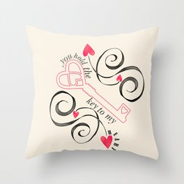 Key to My Heart. Throw Pillow