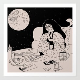 Lunar Cafe Art Print