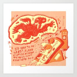 "Altered States X Willie Nelson ""I'd Have To Be Crazy"" Art Print"