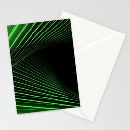 stripes neon acid abstractiona Stationery Cards