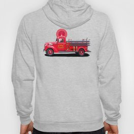 Vintage Fire Truck - Classic Americana Hoody