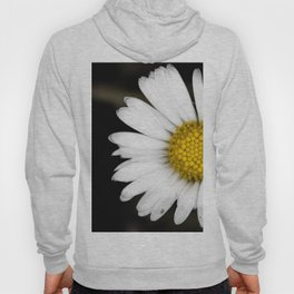 White daisy floating in the dark #2 Hoody