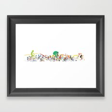 Bike Parade Print Framed Art Print