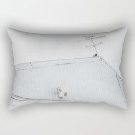 Old Barn with Skull and Weathervane Rectangular Pillow