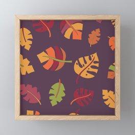Fall Autumn Leaves Framed Mini Art Print