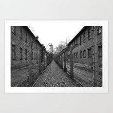 Auschwitz, Poland. Art Print