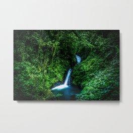 Jungle Waterfall Metal Print