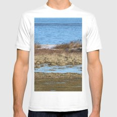 At the beach 3 Mens Fitted Tee MEDIUM White