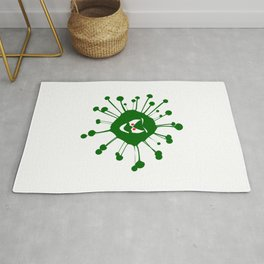 Evil Face Viral Infection Silhouette Rug