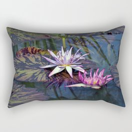 Water Lilies in Pond Rectangular Pillow