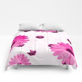 Pink  Gerbera Comforters