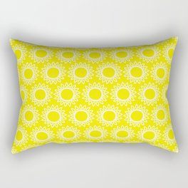Sun Yellow Pattern - Beach Sun - Mix and Match with Simplicity of Life Rectangular Pillow