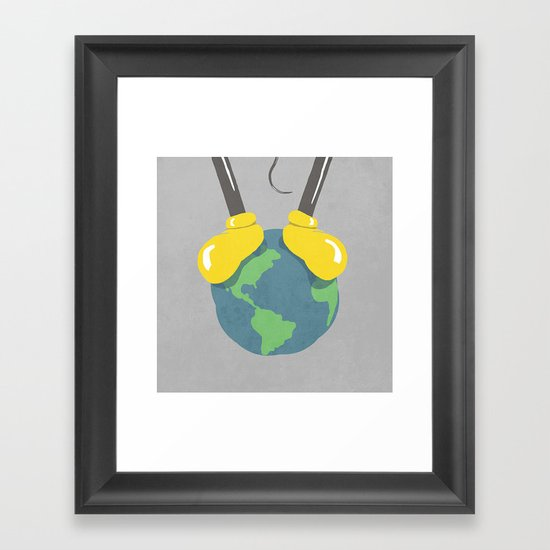 it is a small world after all (mouse version) Framed Art Print