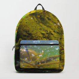 Watercolor Human Impact, Trash 16, Glass Jar Backpack