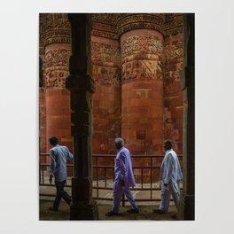 Circling Qutub Minar Poster