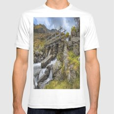 Lynn Idwal Bridge Mens Fitted Tee White MEDIUM