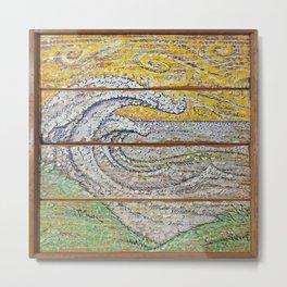 Waves on Grain Metal Print
