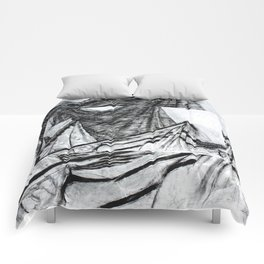 Double Drapery Drawing Comforters