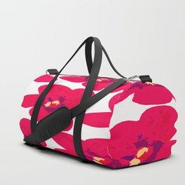 Red Retro Flowers #decor #society6 #buyart Duffle Bag