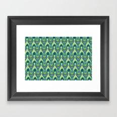 Peacock Feather Print Framed Art Print