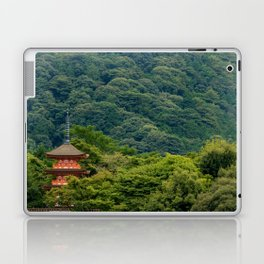 Japanese forest temple Laptop & iPad Skin