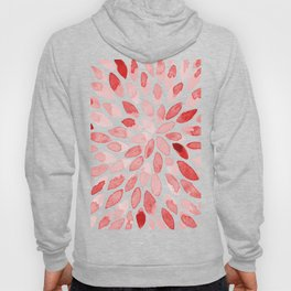 Watercolor brush strokes - red Hoody