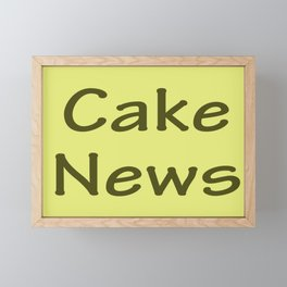 Cake News - Allusion to May in Salzburg Framed Mini Art Print