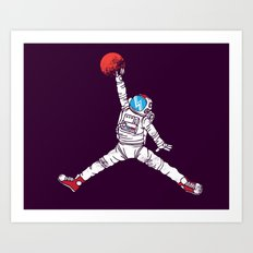 space dunk (purple ver.) Art Print