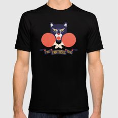 Ping Pong Panthers Mens Fitted Tee Black LARGE