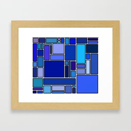 50 shades of blue Framed Art Print