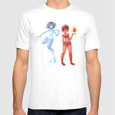 Fire & Ice Mens Fitted Tee White MEDIUM