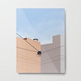 Neighboring Stucco Houses Metal Print