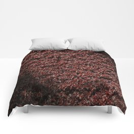 Autumn's red hedge Comforters