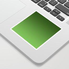Green Ombré Gradient Sticker