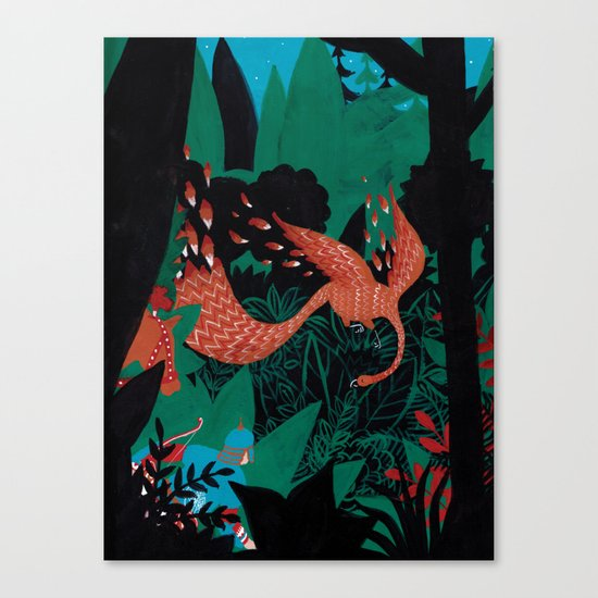 Russian Folk Tales - The Firebird Canvas Print