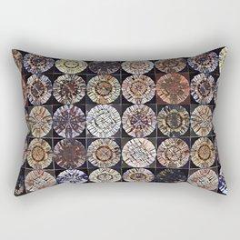 Tree Ring Mandala Rectangular Pillow